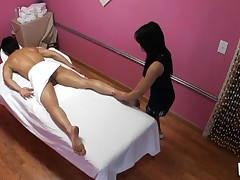 Enjoy watching sex during massage in all immodest details