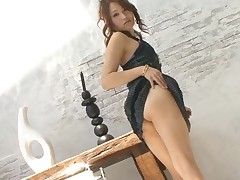 Sexually excited Japanese honey ravishes a lusty cock with her mouth