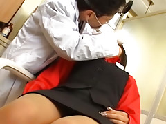 Lovely young asian sucks big dick