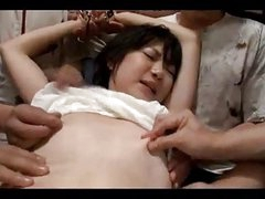 Oriental Girl With Diminutive Tits Blindfolded Fingered Stimulated Drilled With Toys Sucking Males Cock On The Floor In The Room