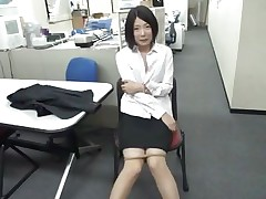 Bored at work the slutty brunette hair chick begins sucking on that dildo. She's horny and likes playing with dildos but what if her boss finds her? Doesn't this babe knows that this kind of stuff are not allowed at work? Well, maybe this babe will be fortunate and won't get caught, or this babe will have to suck on a real cock