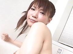 Pal licks, fingers and bonks hairy pussy of girlie from Asia